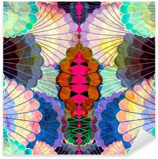 Naklejka Pixerstick Akwarela wielokolorowe elementy abstrakcyjne