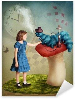 Naklejka Alice i gąsienica