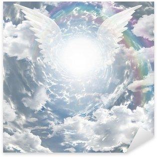 Naklejka Pixerstick Angelic obecność w tunelu światła