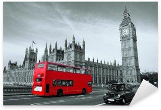 Naklejka Pixerstick Autobus w Londynie