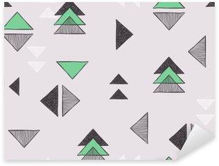 Naklejka Pixerstick Bez szwu ręcznie rysowane trójkąty wzór.