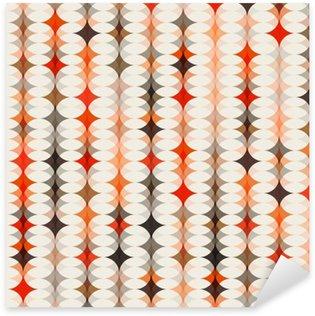 Naklejka Pixerstick Bezszwowe tło wzór pomarańczowy