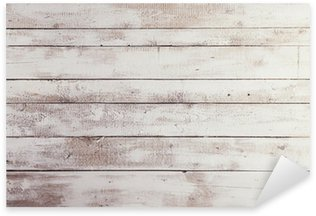 Naklejka Pixerstick Białe deski drewniane z tekstury jako tła