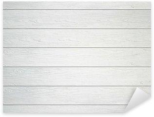 Naklejka Pixerstick Białe tło tekstury ścian drewnianych