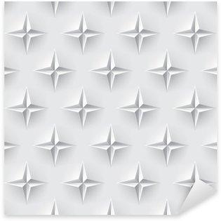 Naklejka Pixerstick Biały 3d bez szwu tekstury