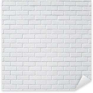 Naklejka Biały mur z cegły