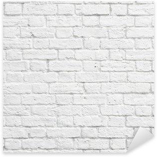 Naklejka Pixerstick Biały mur z cegły