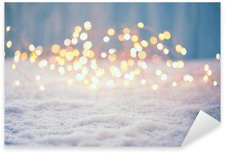 Naklejka Pixerstick Boże Narodzenie bokeh