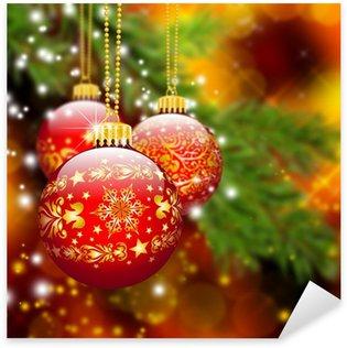 Naklejka Pixerstick Boże Narodzenie, Boże Narodzenie, tło, Christmas ball, piłka