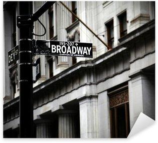 Naklejka Broadway znak