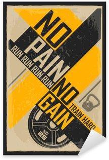 Naklejka Centrum typograficznych grunge plakatu. Bez pracy nie ma kołaczy. Motywacyjne i inspirujące ilustracji.