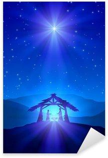 Naklejka Pixerstick Christian Christmas nocy