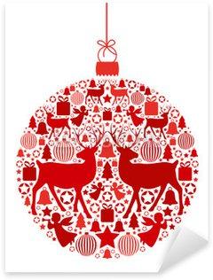 Naklejka Pixerstick Christmas ball z bożonarodzeniowe