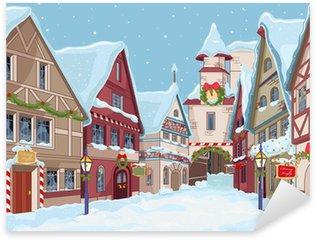 Naklejka Pixerstick Christmas town