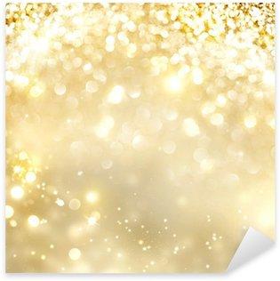 Naklejka Pixerstick Christmas złota tła. Złotych święto świecące tło