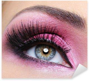 Naklejka Pixerstick Crimsom makijaż oczu i długie rzęsy