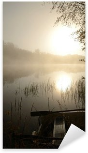 Naklejka Pixerstick Czas jesiennych wędkarstwo