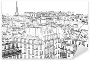 Naklejka Pixerstick Dachy w Paryżu