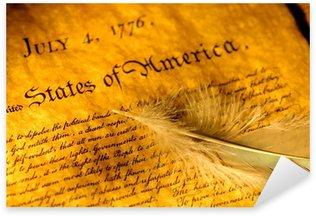 Naklejka Pixerstick Deklaracja Niepodległości