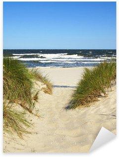 Naklejka Pixerstick Droga do plaży