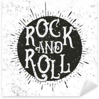 Naklejka Drukuj rock