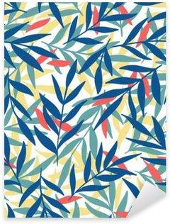 Naklejka Pixerstick Egzotyczne liści, tropikalnych.