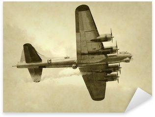 Naklejka Pixerstick Era ii wojny światowej amerykański bombowiec