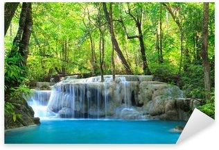 Naklejka Pixerstick Erawan wodospad, Kanchanaburi, Tajlandia