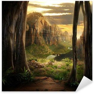 Naklejka Pixerstick Fantazja krajobraz