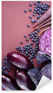 Naklejka Fioletowe owoce i warzywa