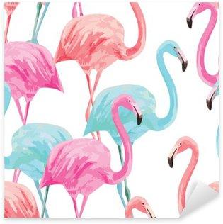 Naklejka Flamingo akwarela wzór
