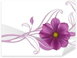 Naklejka Pixerstick Floralescent Projekt z Violetta Blüte