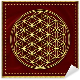 Naklejka Flower of Life / złota