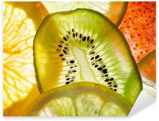 Naklejka Pixerstick Fruit mix (rys, wapno, cytryna, pomarańcza, kiwi)