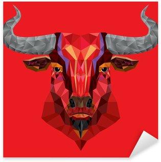 Naklejka Głowica z red bull strukturze? ilustracji wektorowych geometryczne