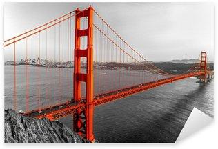 Naklejka Pixerstick Golden Gate, San Francisco, Kalifornia, USA.