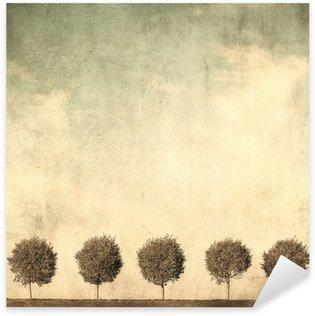 Naklejka Grunge obraz drzewa