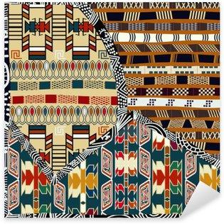 Naklejka Pixerstick Indian plemiennych kolorowych ilustracji bez szwu pattern.Vector