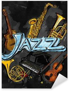 Naklejka Pixerstick Instrument Jazz Malarstwo