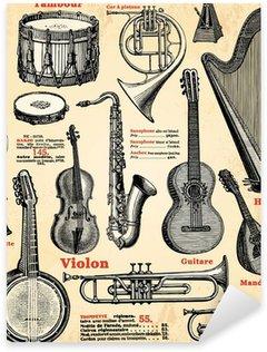 Naklejka Instrumenty muzyczne