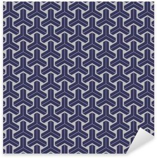 Naklejka Pixerstick Japoński wzór bez szwu geometryczny wzór tekstury