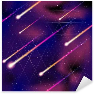 Naklejka Jednolite tło deszcz meteorów