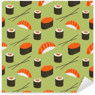 Naklejka Pixerstick Jednolite wzór z sushi