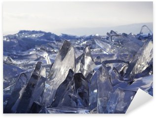 Naklejka Pixerstick Kawałki lodu błyszczą w słońcu. Bajkał, Rosja.