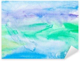 Naklejka Pixerstick Kolor gładzi akwareli sztuki