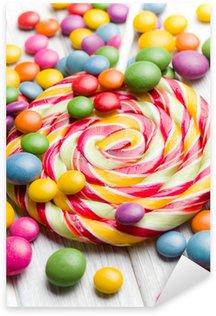 Naklejka Pixerstick Kolorowe cukierki i lizak