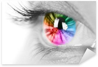 Naklejka Pixerstick Kolorowe oko