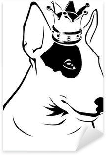 Naklejka Król Bull Terrier