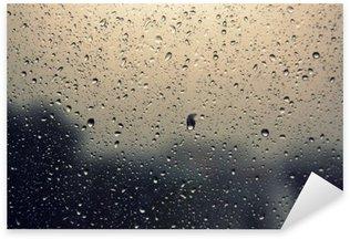 Naklejka Krople deszczu na oknie