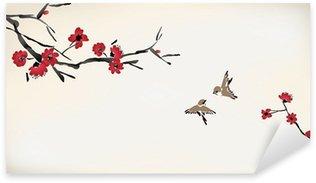 Naklejka Kwiat malowanie